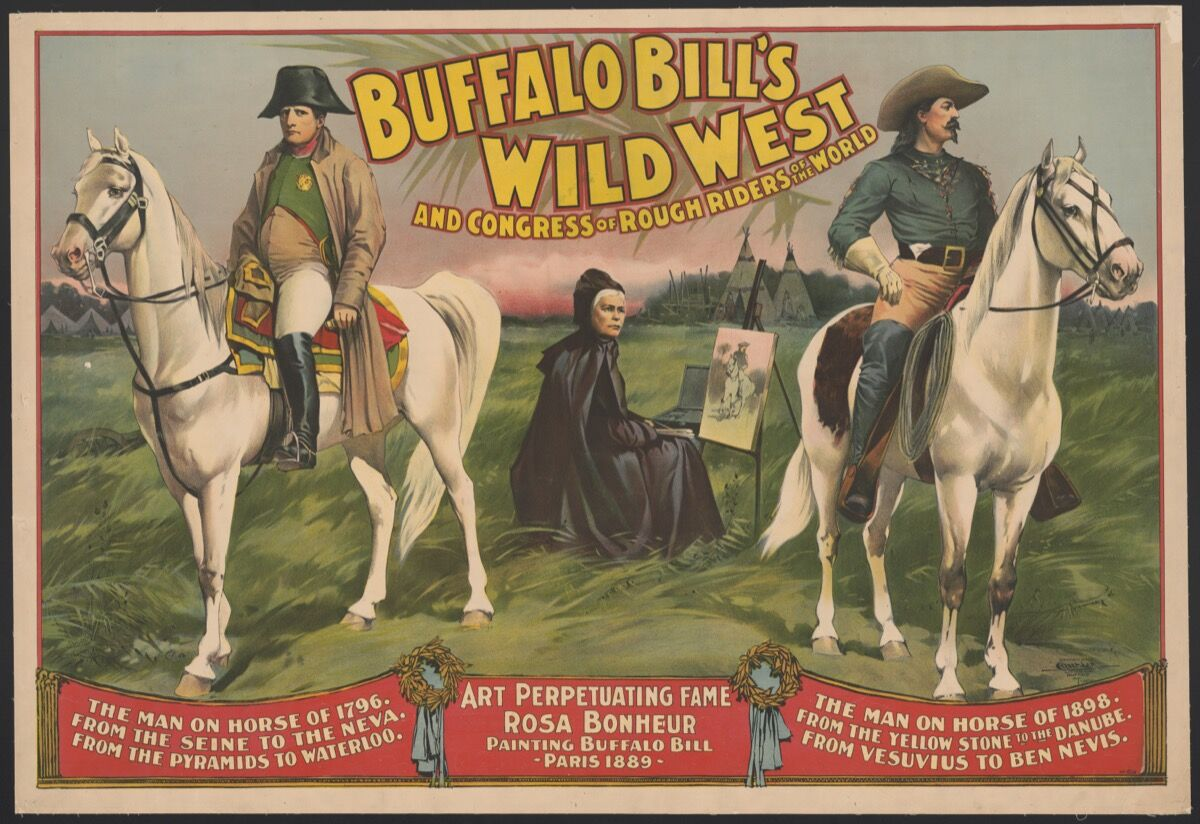 Buffalo Bill's Wild West and Congress of Rough Riders of the World / Courier Litho. Co., Buffalo, N.Y., 1896. Courtesy of the Library of Congress.