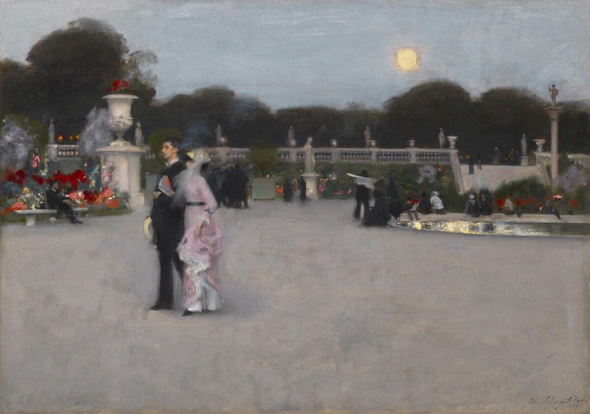 John Singer Sargent, In the Luxembourg Gardens, 1879. Courtesy of the Philadelphia Museum of Art.