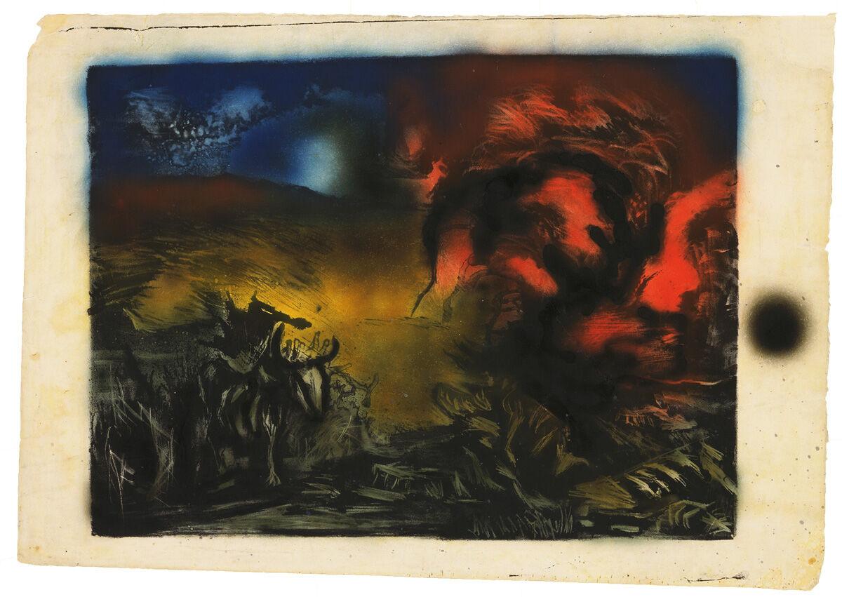 Jackson Pollock, Paisaje con Steer, 1936–37.  © 2019 The Pollock-Krasner Foundation / Artists Rights Society (ARS), Nueva York.  Imagen © The Museum of Modern Art / Con licencia de SCALA / Art Resource, NY.  Cortesía del Museo Whitney de Arte Americano.