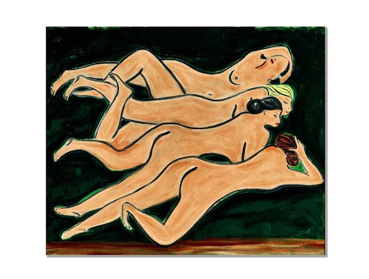 Sanyu, Quatre Nus, 1950s. Sold for HK$258,341,000 (US$33.3 mill). Courtesy Sotheby's.