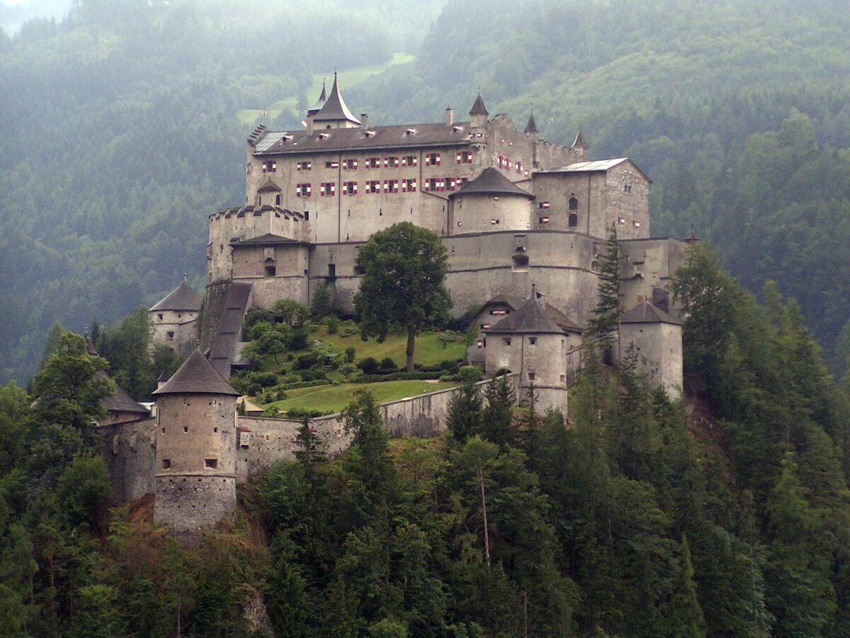 Hohenwerfen Castle, Austria. Photo via Wikimedia Commons.