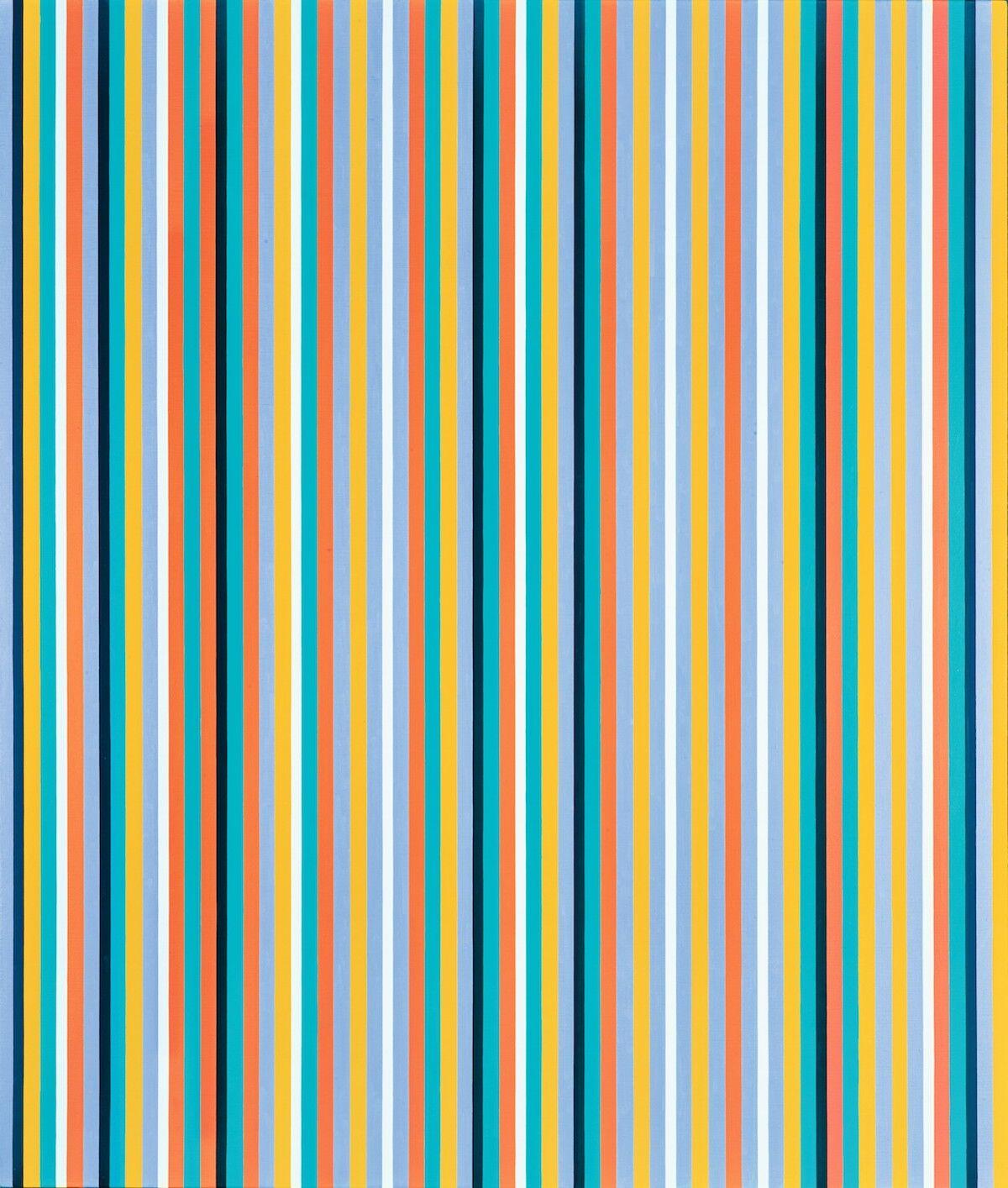 Bridget Riley, Cool Edge, 1982. Est. £800,000–1.2 million ($1 million–1.5 million). Courtesy Sotheby's.