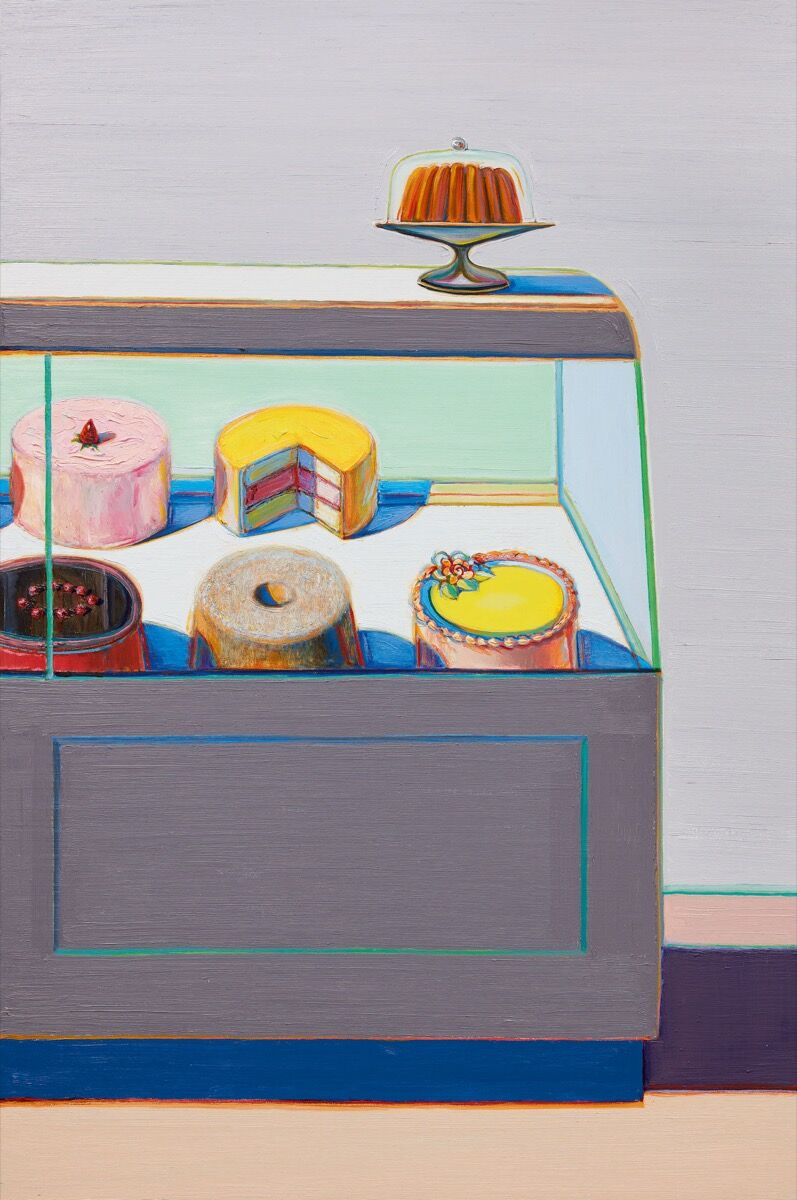 Wayne Thiebaud, Encased Cakes, 2010–11. Courtesy of Sotheby's.