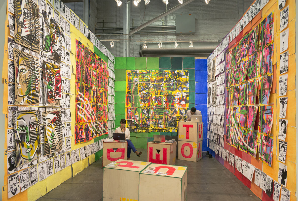 Installation view of Tiwani Contemporary's booth at The Armory Show, 2016. Photo by Adam Reich for Artsy.