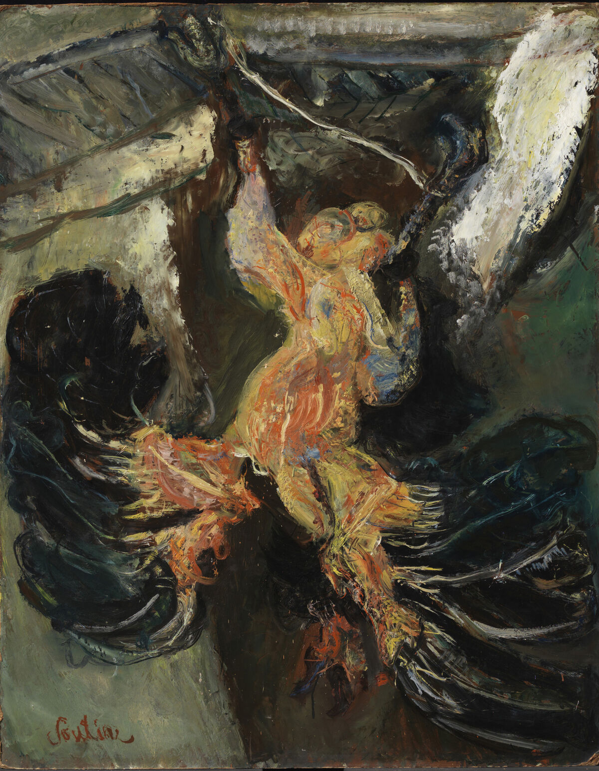 Chaim Soutine, Hanging Turkey, c. 1925. © Artists Rights Society (ARS), New York. Photo by Bruce M. White. Courtesy of The Henry and Rose Pearlman Collection / Art Resource, New York and The Jewish Museum.