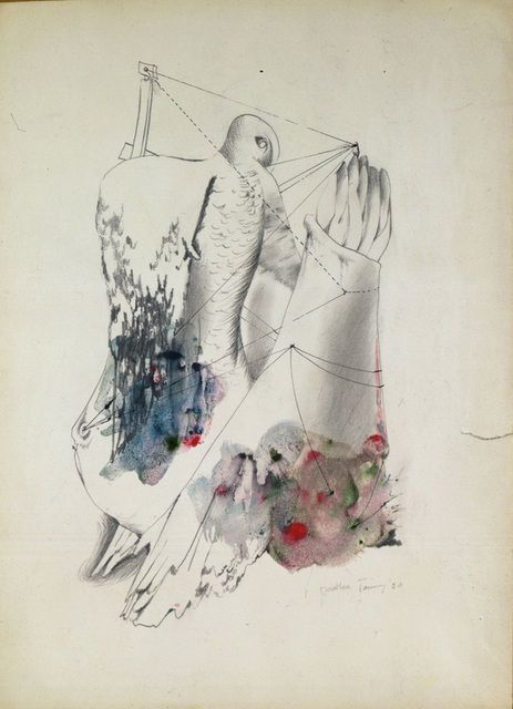 Dorothea Tanning, High Wires, 1950. Image courtesy of Kent Fine Art.