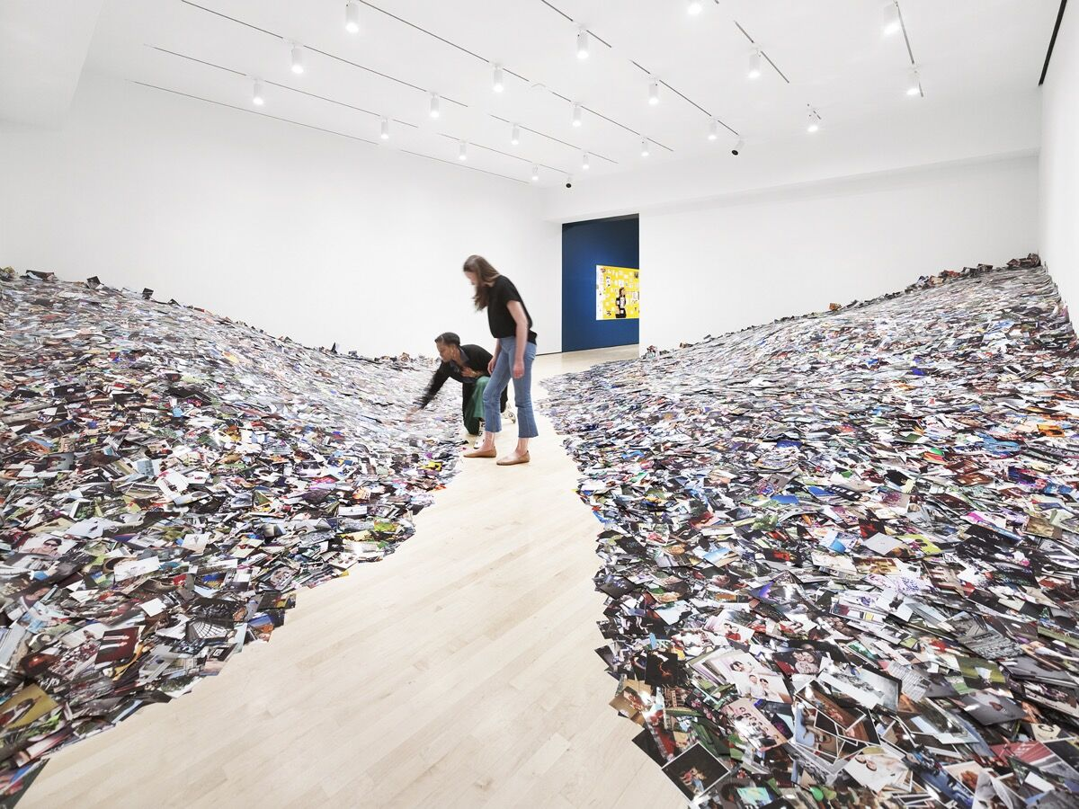 "Installation view of ""snap+share: transmitting photographs from mail art to social networks,"" 2019, at SFMOMA. Photo © Matthew Millman Photography."