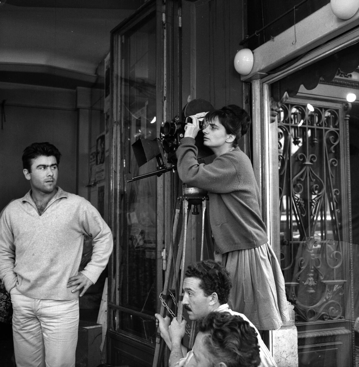 Agnès Varda directing a scene of her film Cleo from 5 to 7, 1961. Photo by Roger Viollet/Getty Images.