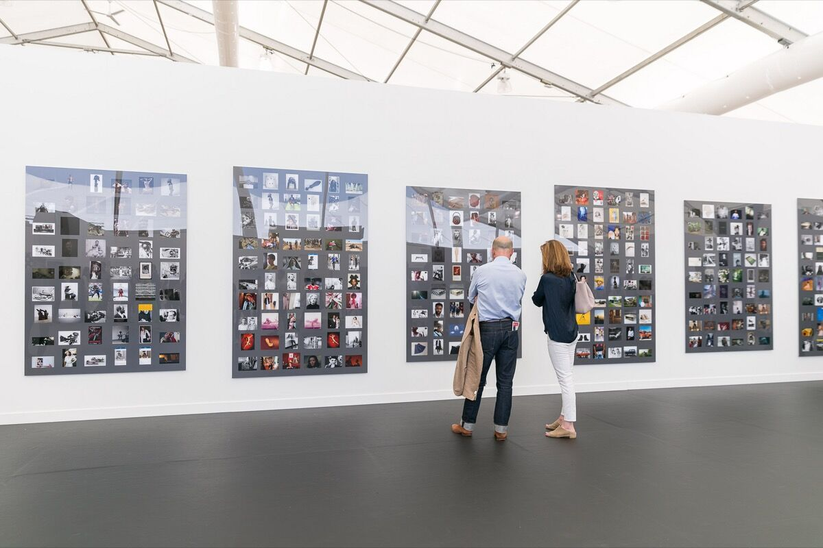 Installation view of Gavin Brown's Enterprise's booth at Frieze New York, 2018. Photo by Mark Blower. Courtesy of Mark Blower/Frieze.