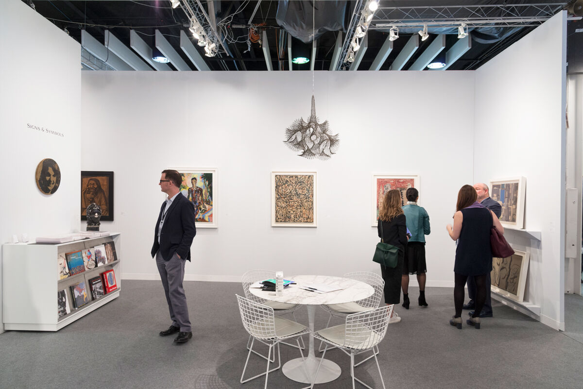 Installation view of Michael Rosenfeld Gallery's booth at The Armory Show, 2017. Photo by Adam Reich for Artsy.