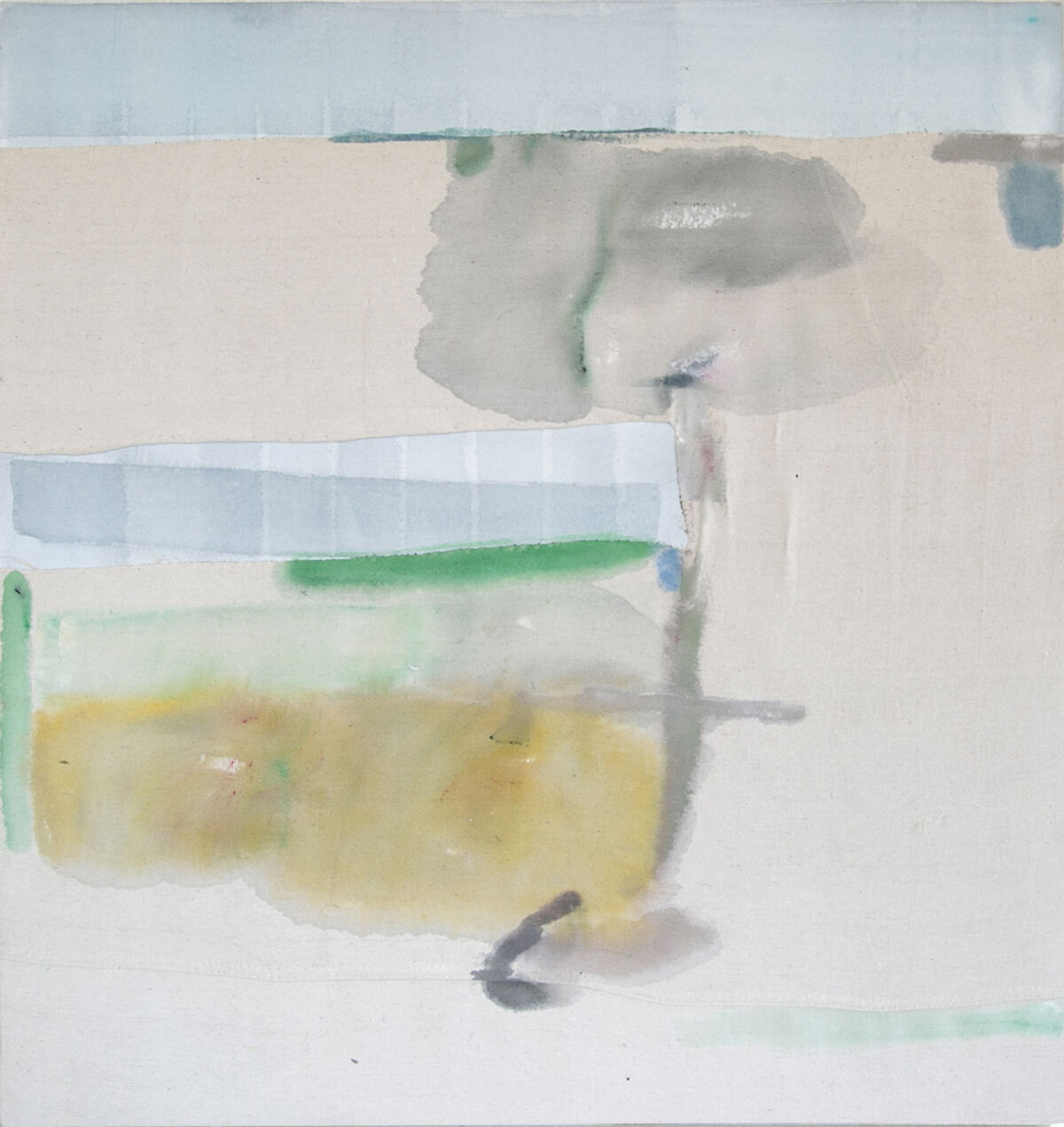 Double-loaded Corridor, 2016; Acrylic on muslin stretched frame; 60 x 75.5 inches; Courtesy of the Artist and Elizabeth Leach Gallery