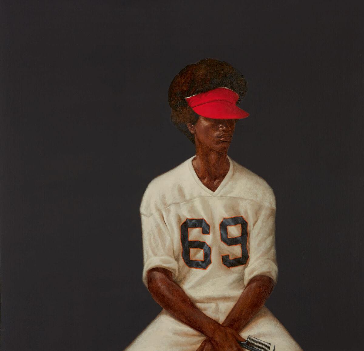 Barkley L. Hendricks, Mr. Johnson (Sammy From Miami) (1972). Courtesy Sotheby's.