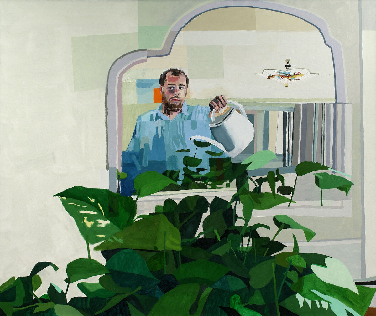 Jonas Wood, Untitled (Self Portrait), 2006. © Jonas Wood. Courtesy of the artist and Black Dragon Society.