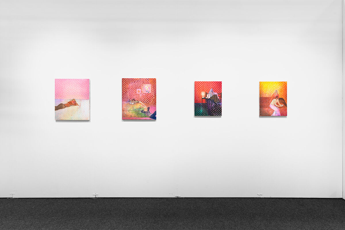 Installation view of works by Heidi Hahn at Jack Hanley's booth at NADA New York, 2016. Photo by Object Studies for Artsy.