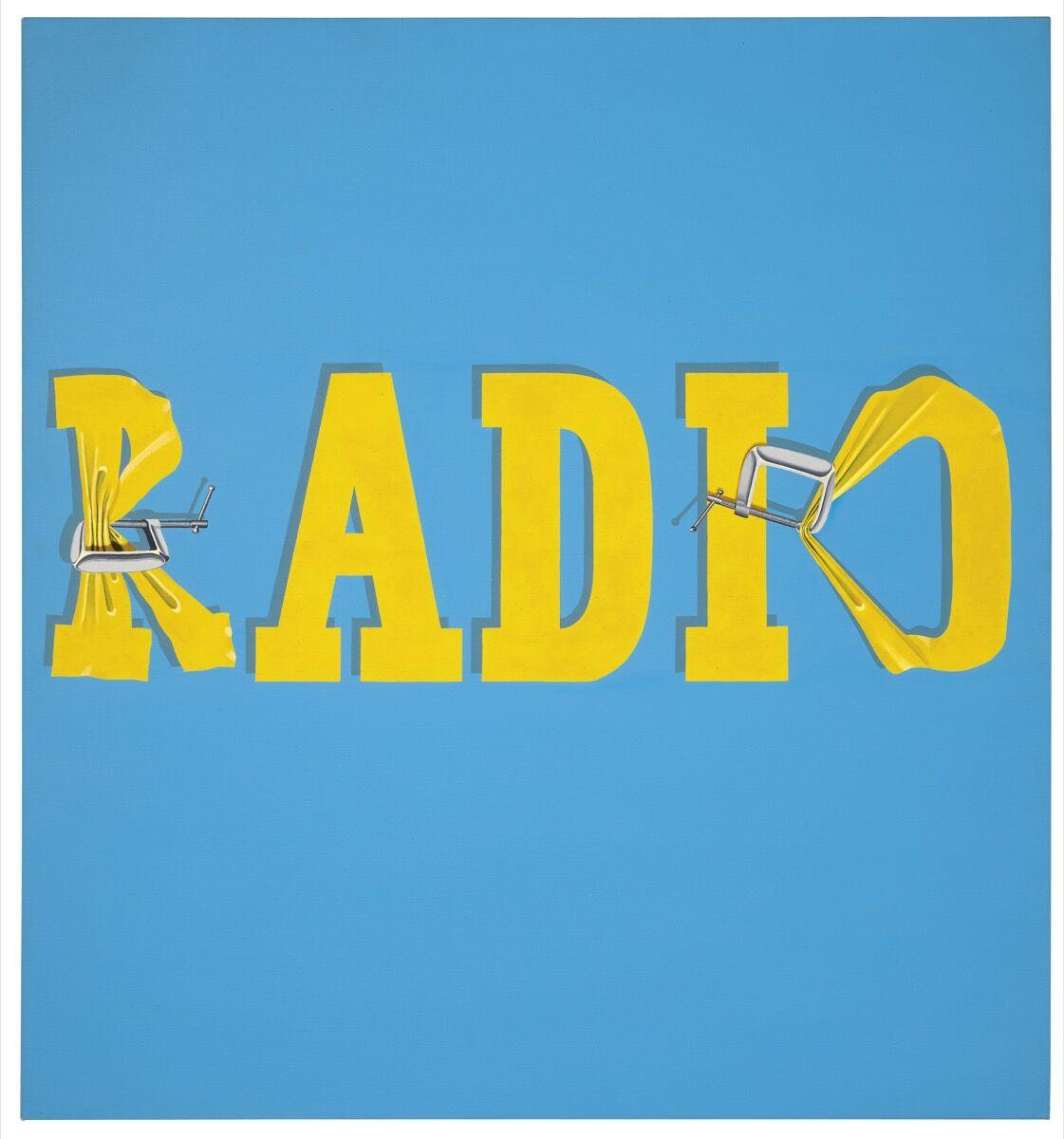 Ed Ruscha, Hurting the Word Radio #2, 1964. Courtesy of Christie's.
