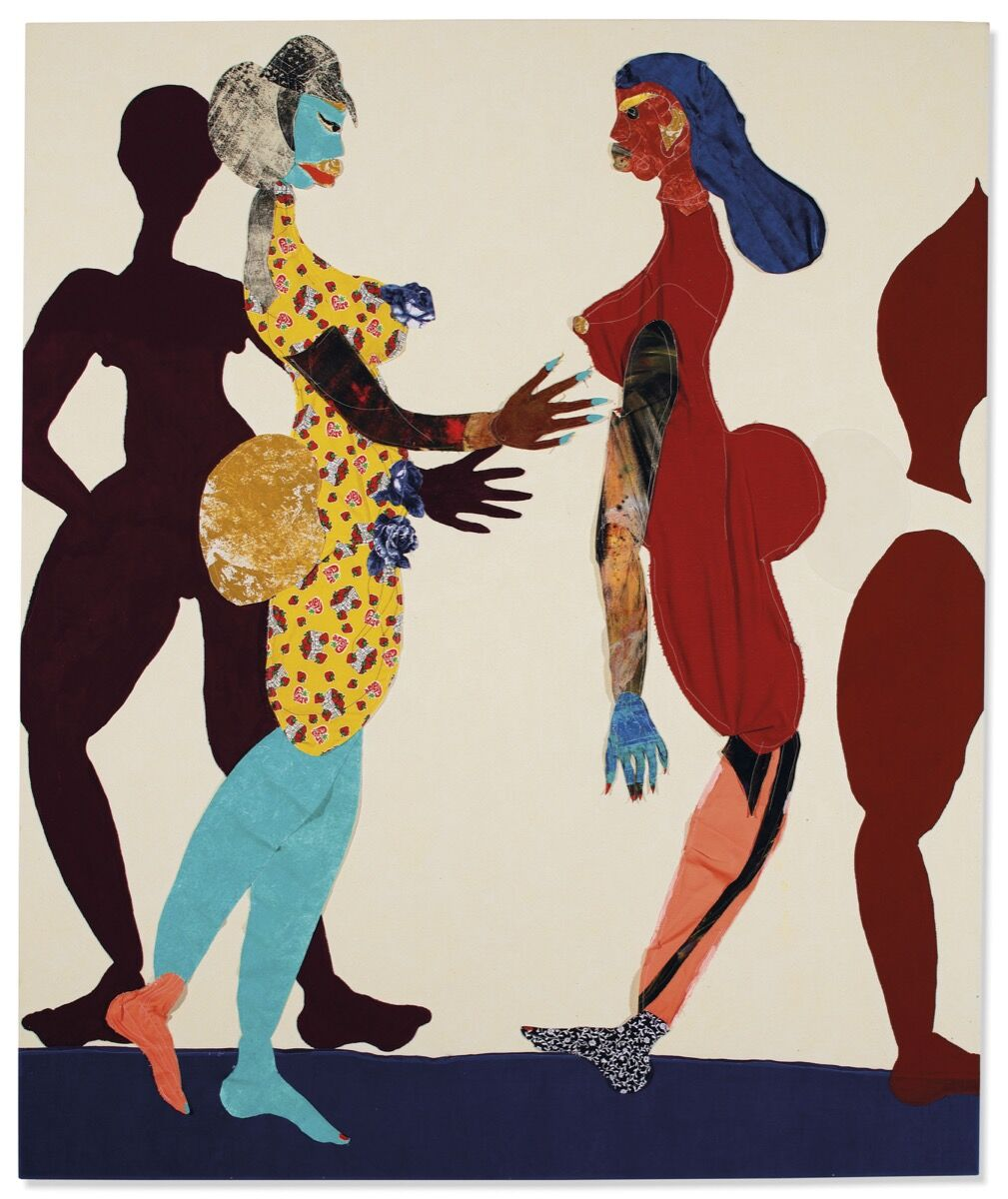 Tschabalala Self, Out of Body, 2015. Courtesy of Christie's.