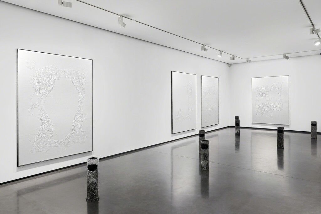 "Installation view of ""Santiago Taccetti, ISO:9001,"" courtesy of HUS Gallery"