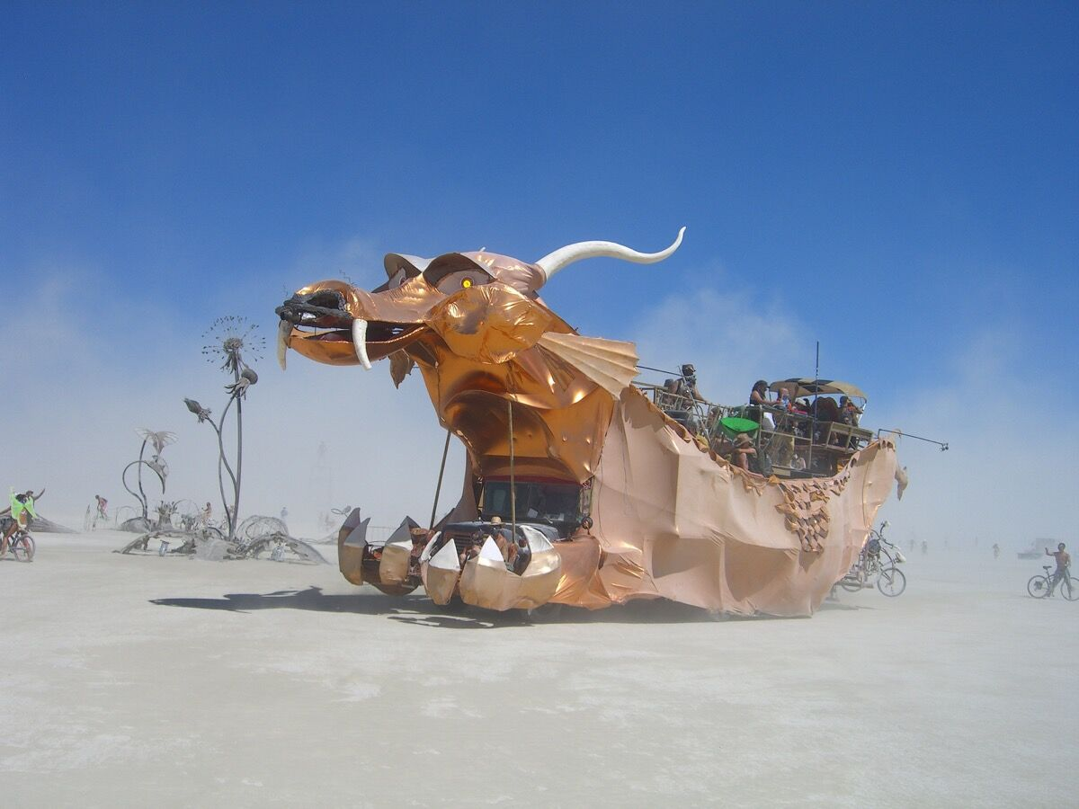 Burning Man, 2010. Photo by bownose, via Flickr.