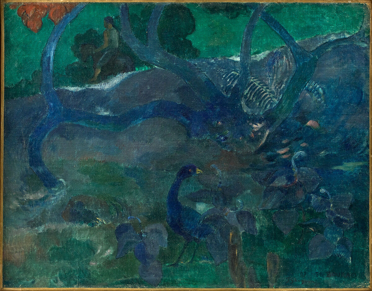 Paul Gauguin, Te Bourao II, 1897. Sold for  €9.5 million ($10.5 million). Photo © Artcurial.