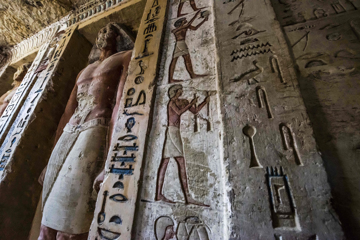 The tomb of high priest Wahtye at the Saqqara necropolis in Egypt. Photo by Khaled Desouki/AFP/Getty Images