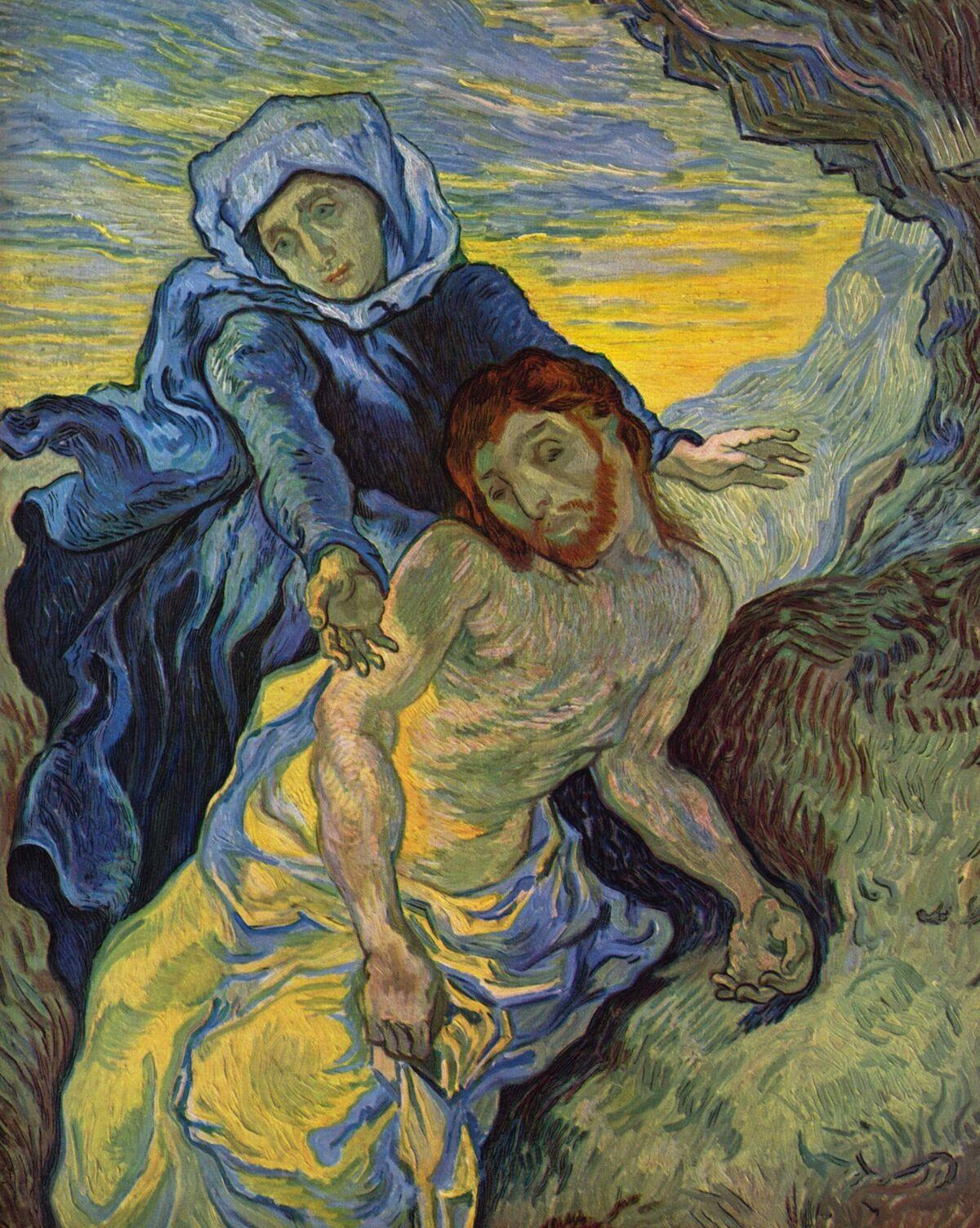 Vincent van Gogh, Pietà (after Delacroix), 1889. Courtesy of the Van Gogh Museum.