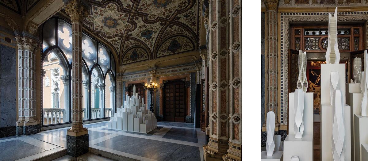 Installation views of Zaha Hadid's retrospective atPalazzo Franchetti. ©Luke Hayes.