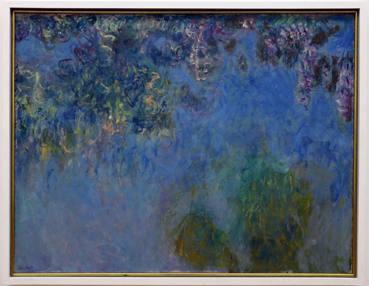 Claude Monet, Wisteria, 1917–20. Gemeentemuseum, The Hague. Via Wikimedia Commons.