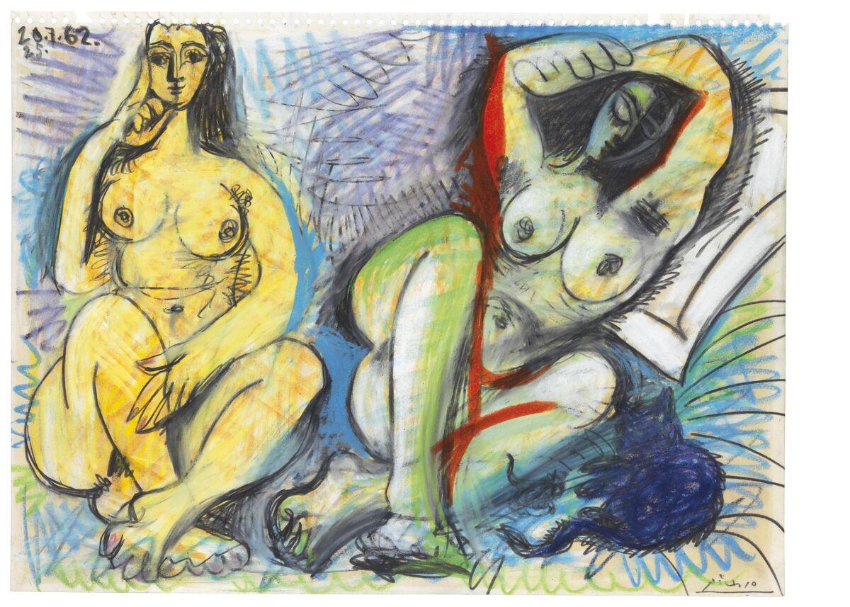 Pablo Picasso, Deux nus, 1962. Courtesy of Christie's.
