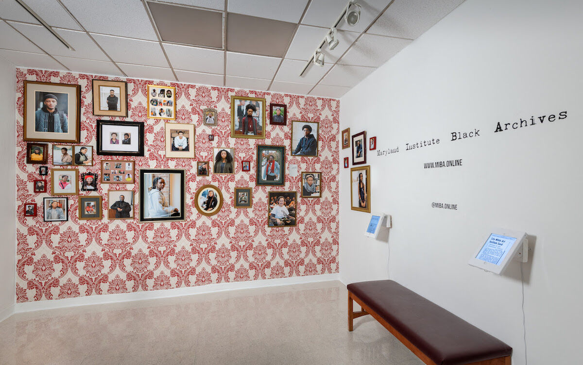 Deyane Moses, Blackives: A Celebration of Black History at MICA, 2019, installation view. Photo courtesy Maryland Institute College of Art.