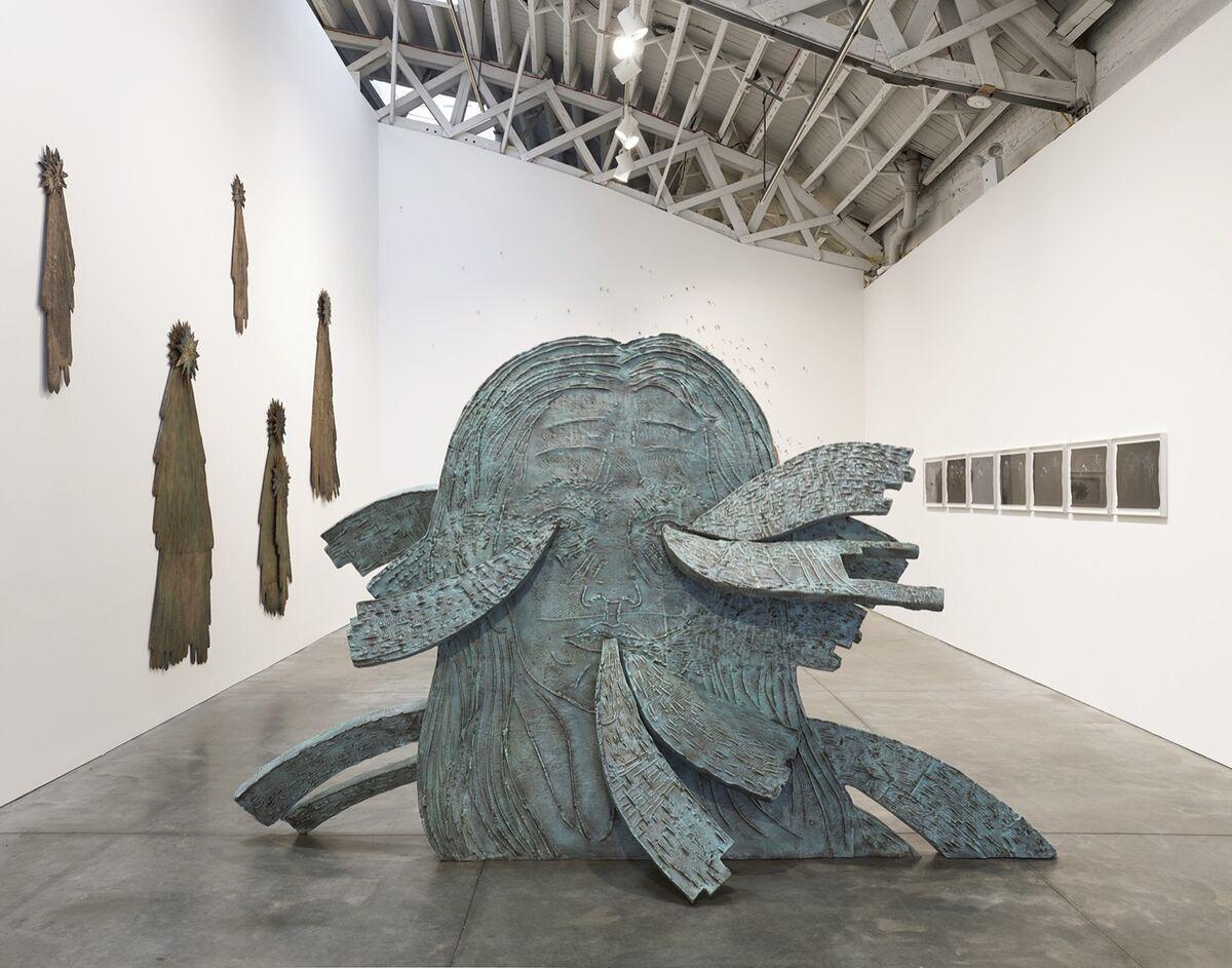 "Installation view of Kiki Smith, ""Kiki Smith: Murmur,"" at Pace Gallery, New York, 2019. Photo by Kyle Knodell. © Kiki Smith. Courtesy of Pace Gallery."