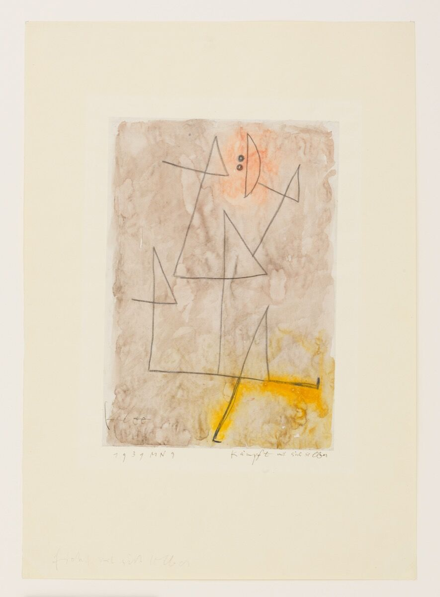 Paul Klee, Kämpft mit sich selber (Struggles with himself), 1939. © Klee Family. Courtesy of David Zwirner.