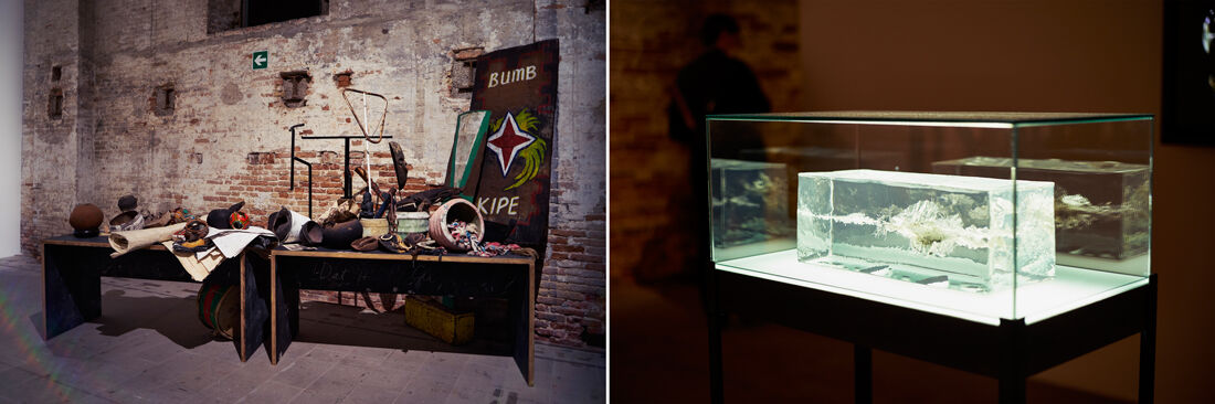 Work by Newell Harry; The Propeller Group. Photos by Alex John Beck for Artsy.