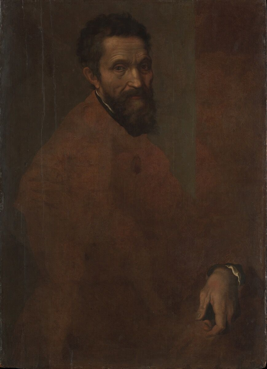 Jacopino del Conte, Michaelangelo Buonarroti, 1515-1598. Courtesy of the Metropolitan Museum of Art.