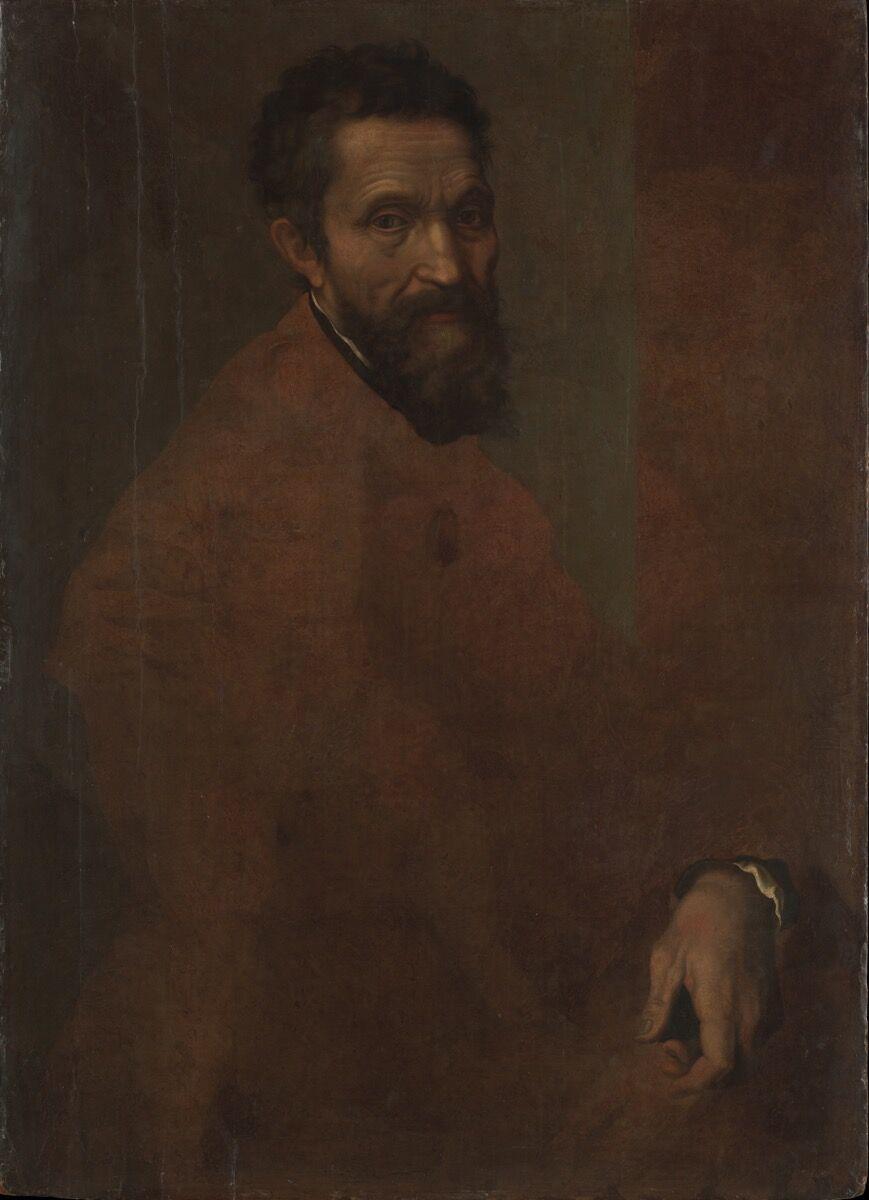 Jacopino del Conte, Michaelangelo Buonarroti, 1515-1598. Courtesy of the Metropolitan Museum of Art.