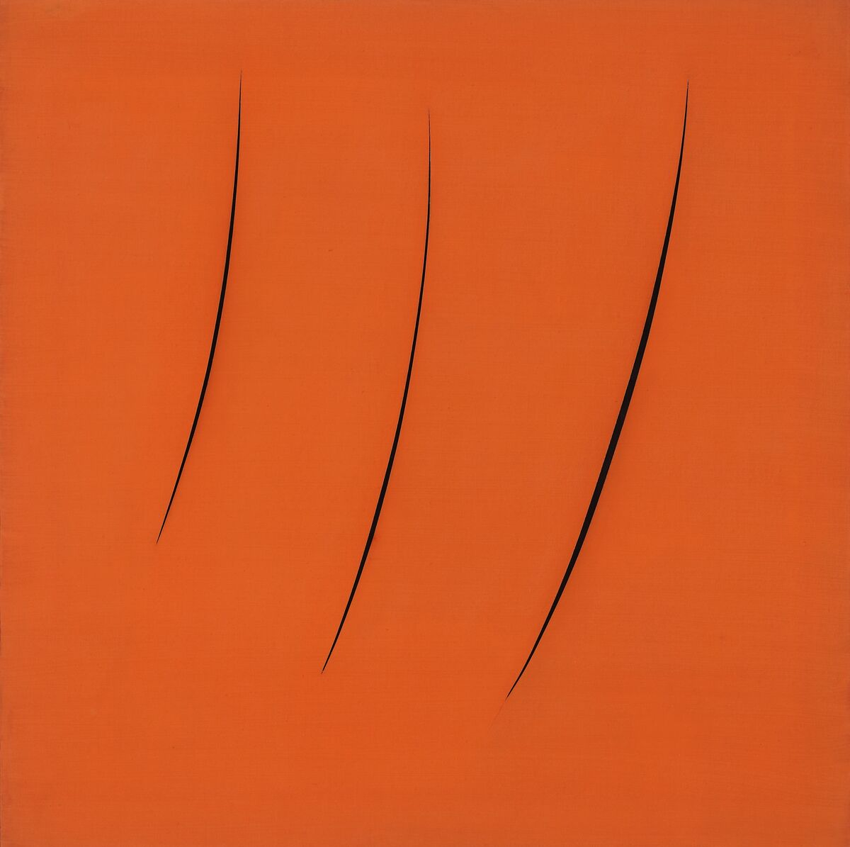 Lucio Fontana, Spatial Concept, Expectations, 1949. Courtesy of The Metropolitan Museum of Art