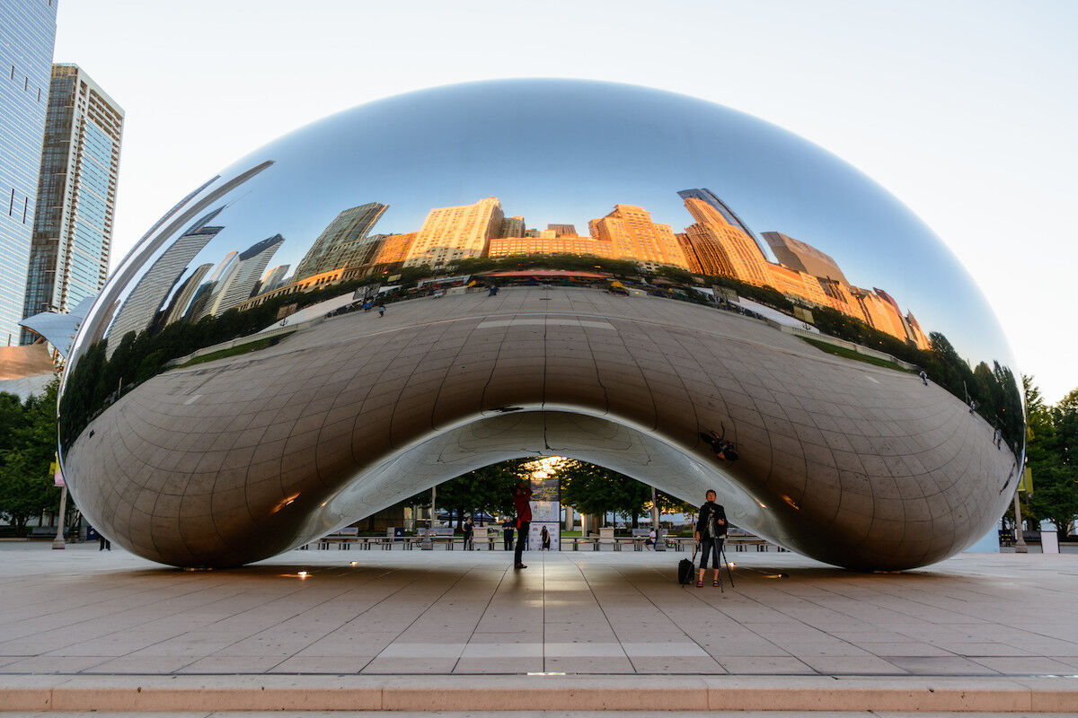 Anish Kapoor, Cloud Gate, 2006. Photo by Peter Miller, via Flickr.