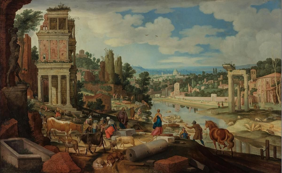 Guilliam van Nieulandt, Roman Landscape, one of the works Bruce Berg is seeking to have restituted. Courtesy Museum Boijmans Van Beuningen, via Wikimedia Commons.