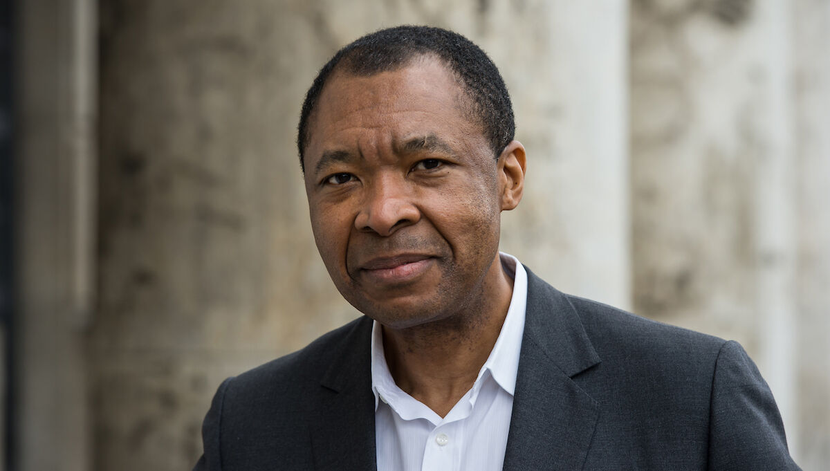 Okwui Enwezor in 2015. Photo by Joerg Koch/Getty Images