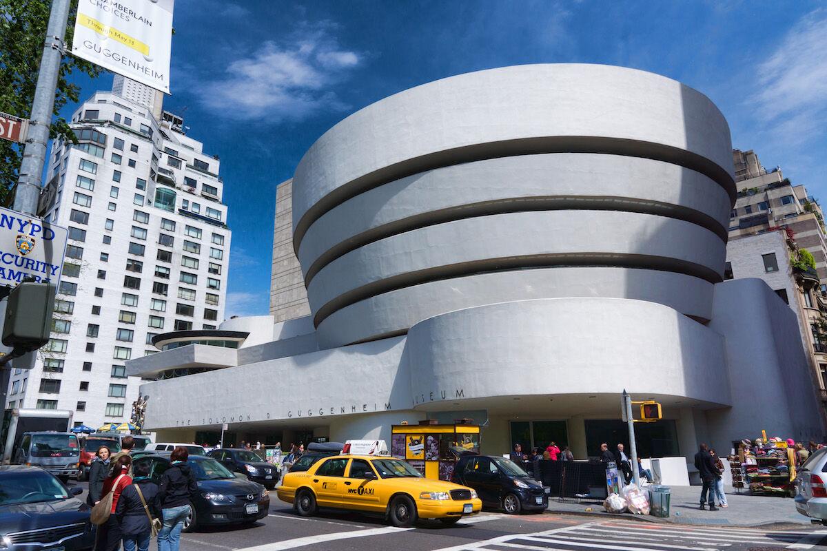 The Guggenheim Museum in New York City. Photo by Jean-Christophe BENOIST, via Wikimedia Commons.