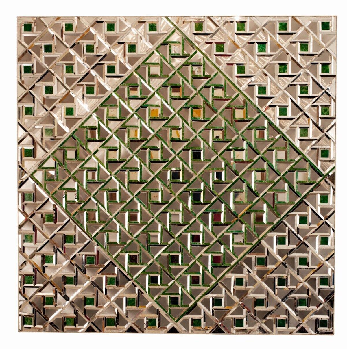 Monir Farmanfarmaian, Geometry of Hope, 1975. Sold for £375,000 ($462,000). Courtesy Sotheby's.