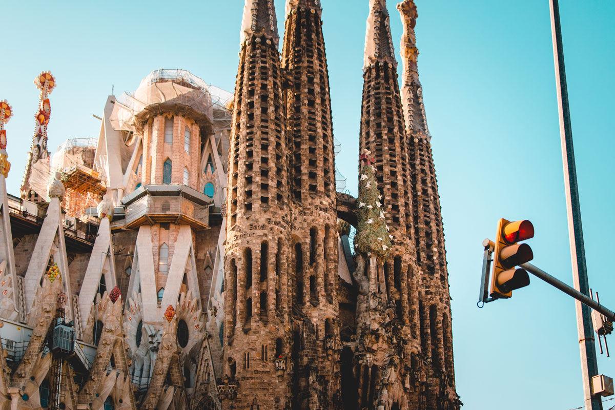 Exterior view of La Sagrada Familia, Barcelona. Photo by Danil Sorokin. Courtesy of Danil Sorokin.