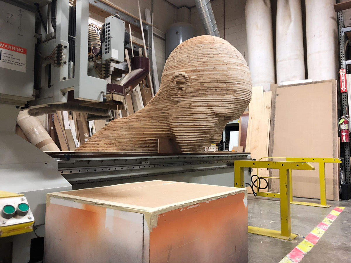 An in-progress view of  Mariposita,  2019. Courtesy of Chris Carnabuci.