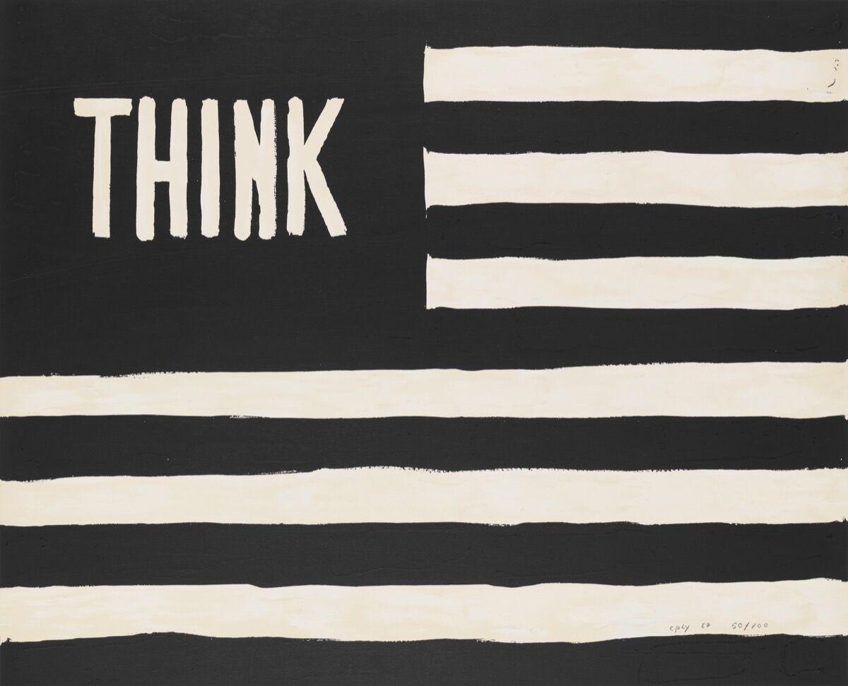 William N. Copley, Untitled (Think/flag), 1967. Whitney Museum of American Art, New York. © William N. Copley Estate / Copley LLC / Artists Rights Society (ARS), New York.