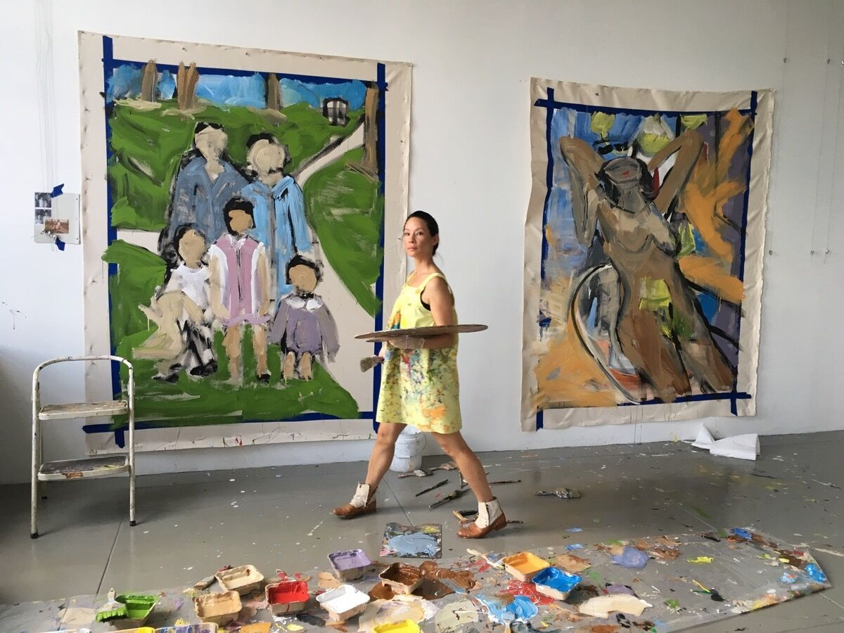 Lucy Liu in her studio. Phoby Avner Levinson. Courtesy of Lucy Liu.