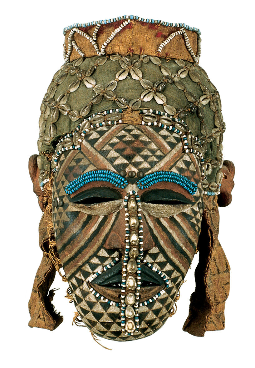 Unidentified artist from the Kuba kingdom, Democratic Republic of the Congo, Female Mask (Ngaady Mwaash), late 19th-early 20th century. Courtesy of The Baltimore Museum of Art.