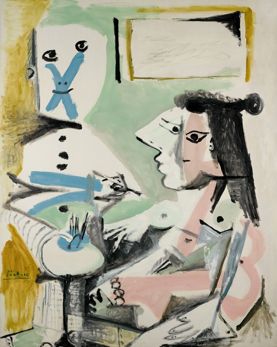 Pablo Picasso, Le peintre et son modèle, 1964. © 2018 Estate of Pablo Picasso / Artists Rights Society (ARS), New York. Courtesy of Sotheby's.