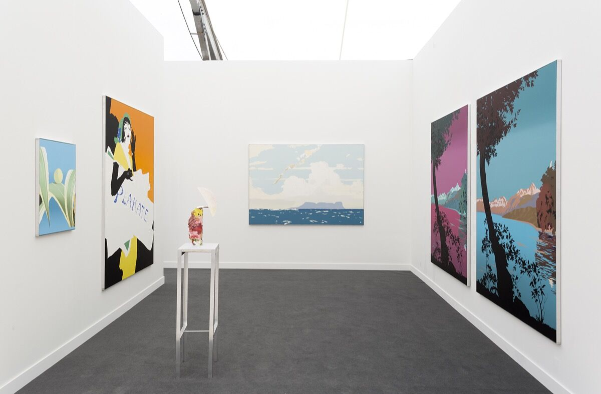 Installation view of GRIMM's booth at Frieze New York, 2018. Photo by Renato Ghiazza. Courtesy of GRIMM.