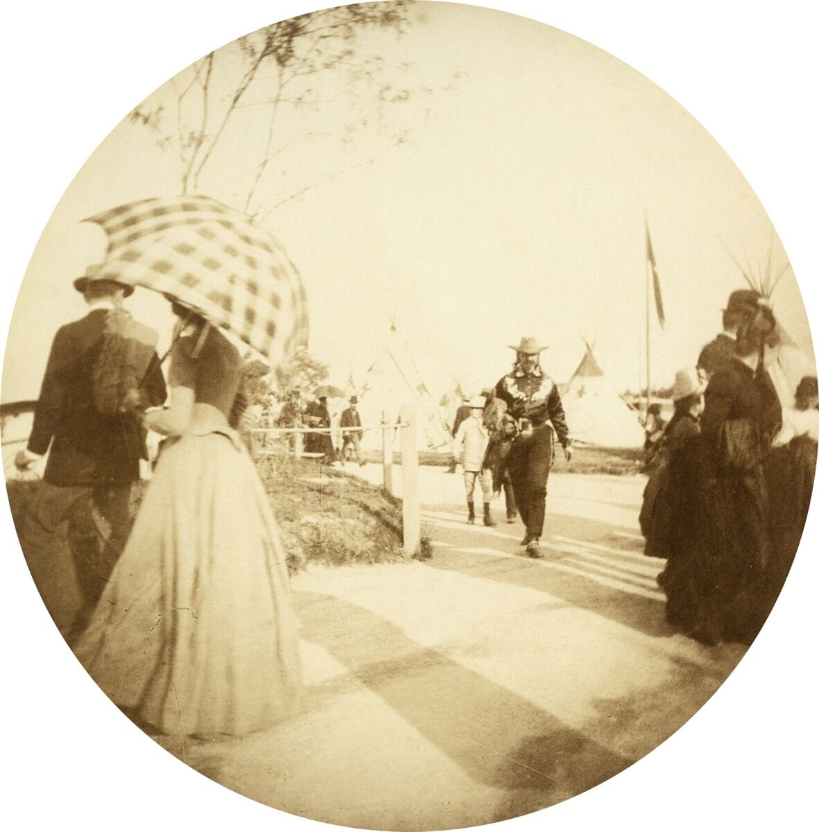 Buffalo Bill at the Exposition Universelle of Paris, 1889. Photo by adoc-photos/Corbis via Getty Images.
