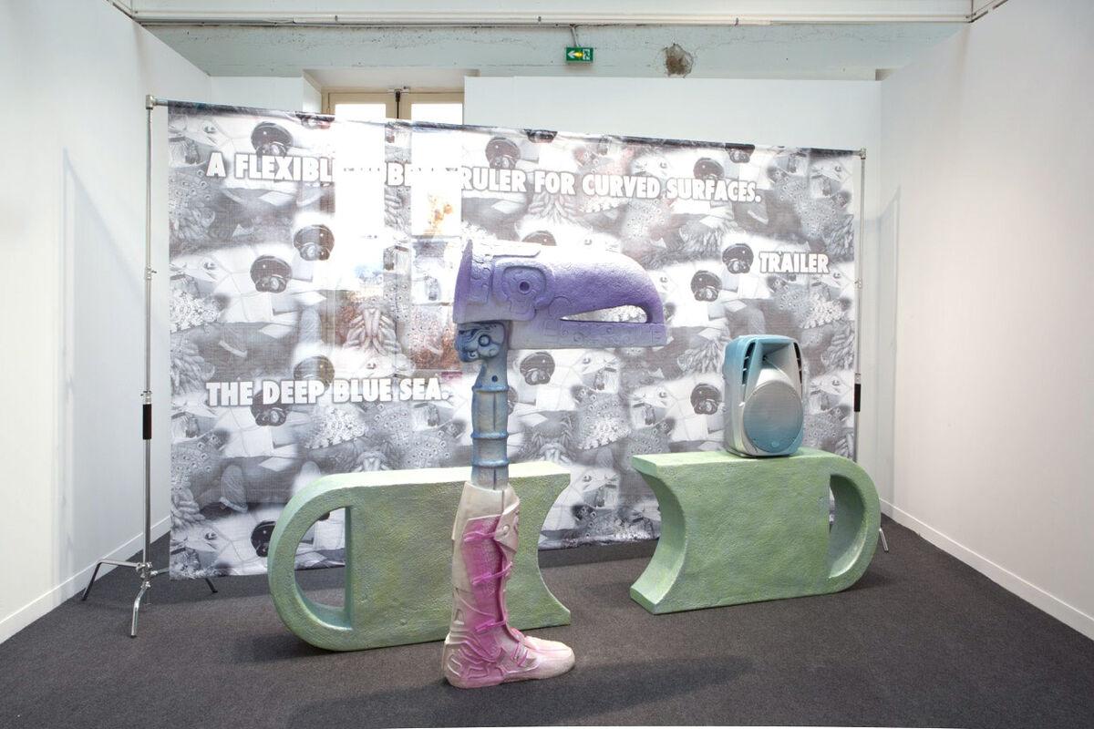 Installation view of Kraupa-Tuskany Zeidler's booth at FIAC, 2016. Photo courtesy of Kraupa-Tuskany Zeidler.