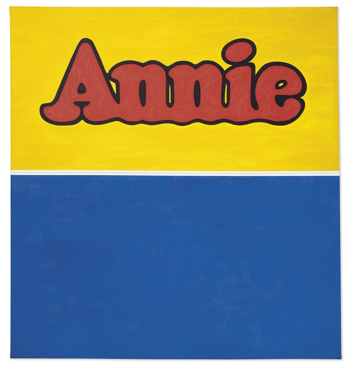 Ed Ruscha, Annie, 1962. Courtesy of Christie's Images Ltd.